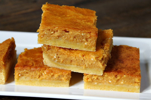 Pumpkin Gooey Butter Bars recipe - from RecipeBoy.com