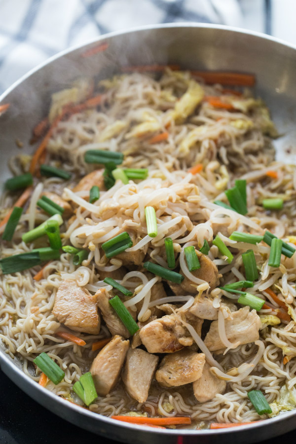 Making Easy Chicken Chow Mein