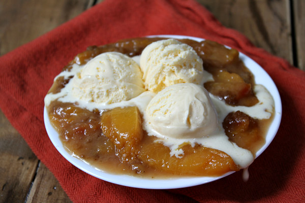 Georgia Peach Crisp - recipe from RecipeBoy.com