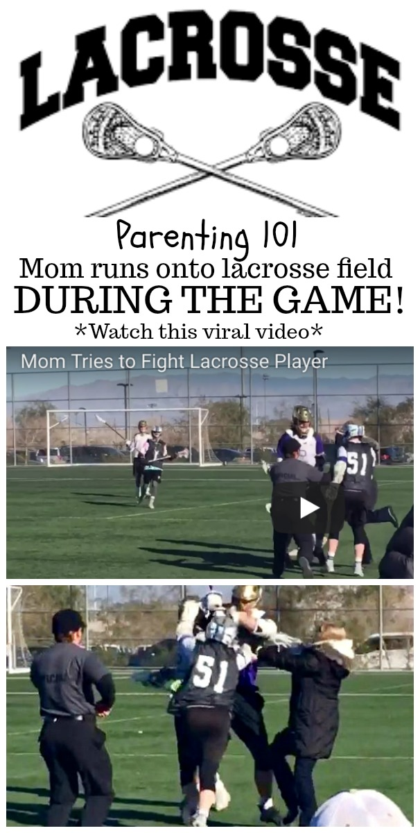 mom running onto field during lacrosse game