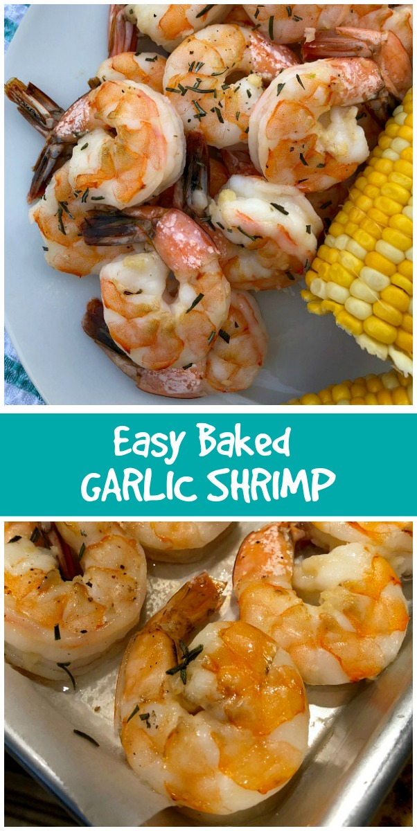 Easy Baked Garlic Shrimp recipe from RecipeBoy.com #easy #baked #garlic #shrimp #recipe #RecipeBoy