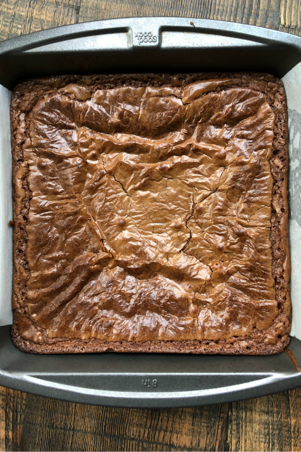 pan of Nutella Brownies