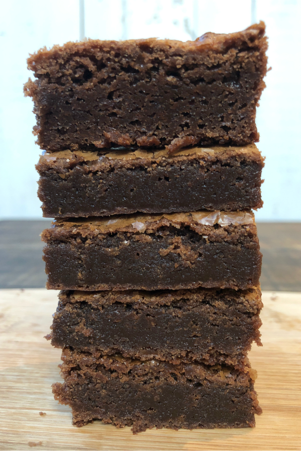 stack of Nutella Brownies