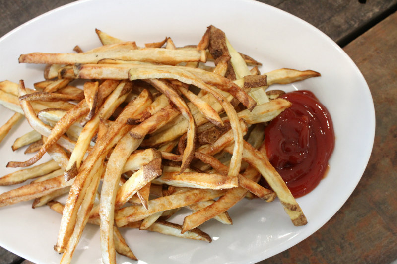 Plate of Air Fryer French Fries with ketchup