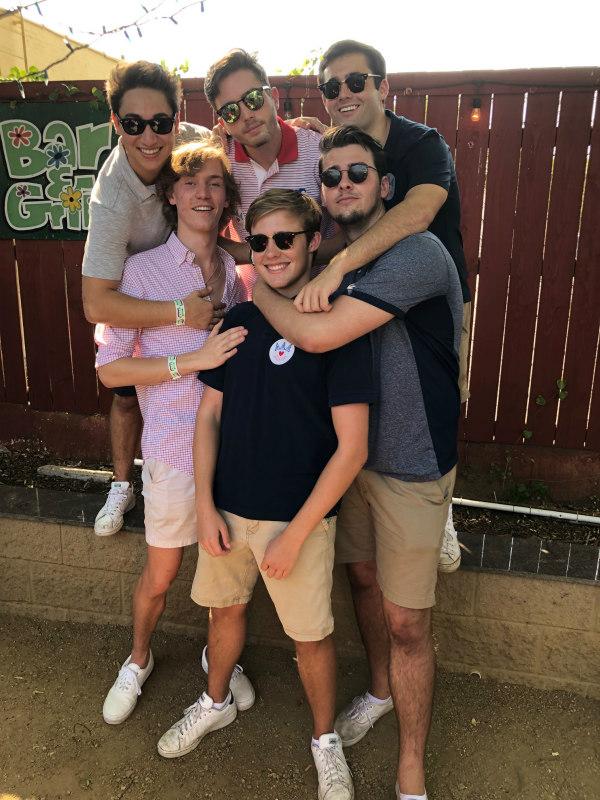 Brooks and SMU friends