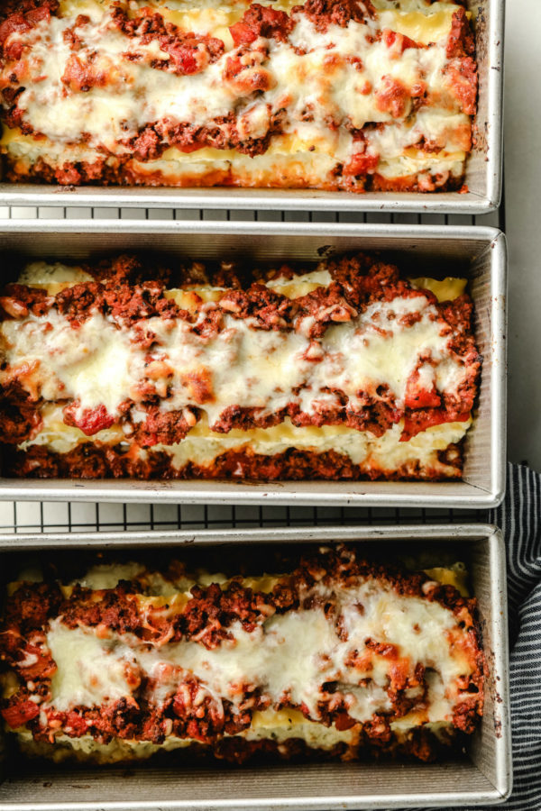 Lasagna Roll Ups just out of the oven