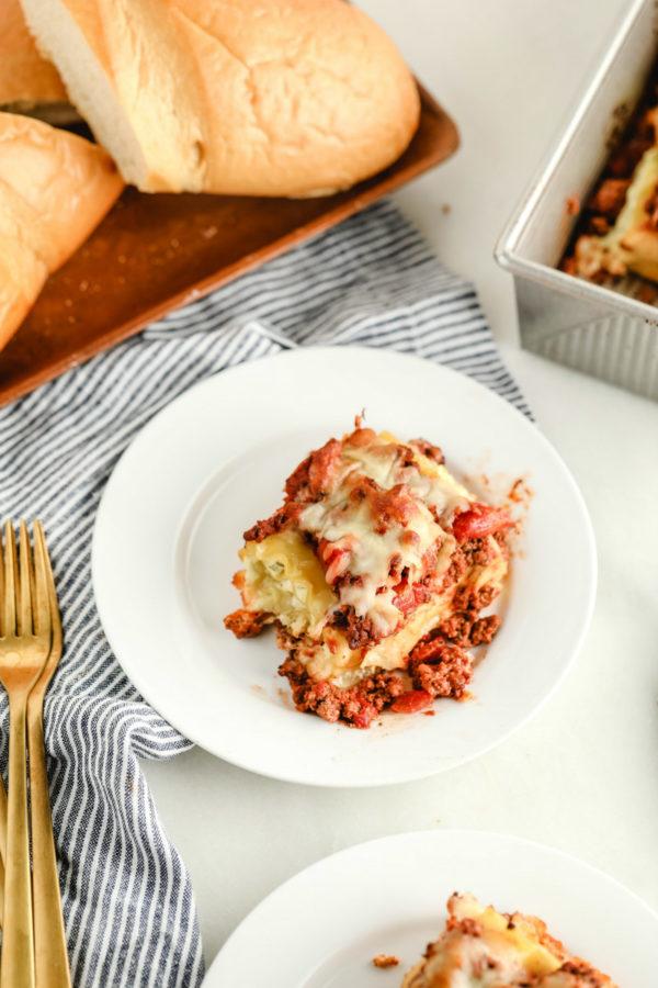 serving lasagna roll ups