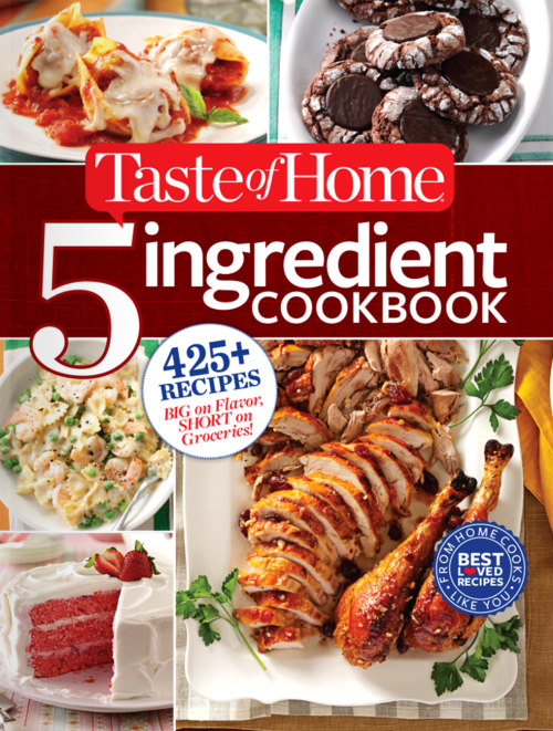 taste of home 5 ingredient cookbook cover