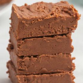 stack of best fudge