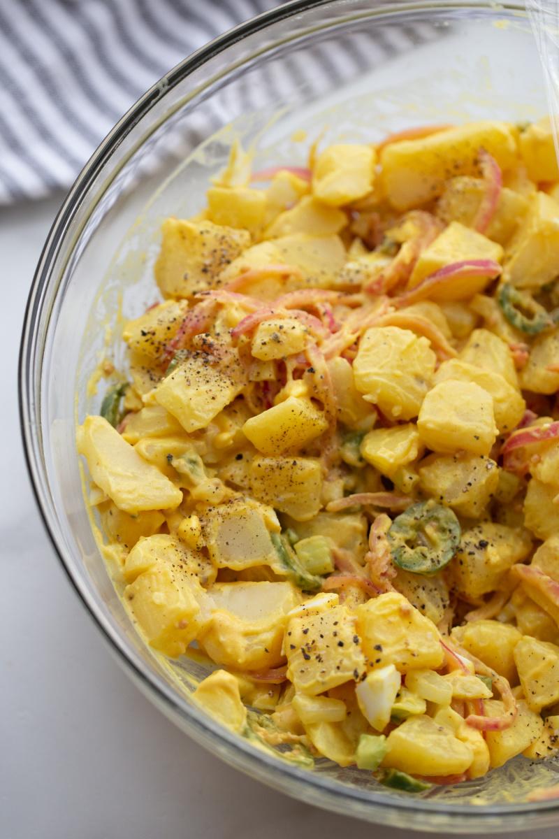 bowl of texas potato salad