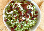 bacon and cotija cheese guacamole