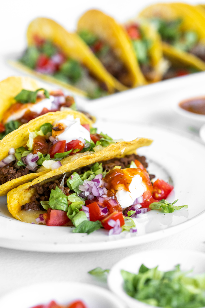 ground beef tacos with fixings